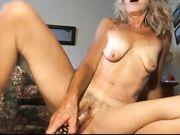 Nude blonde MILF amazing masturbation on camera