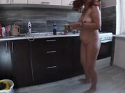 Anal sex with mom in the kitchen