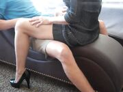 Horny mature mom teasing hard before letting cock penetrate her wet pussy