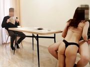 Partner invites his boss at home to fuck his hot promiscuous spouse